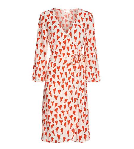 Fabienne Chapot Winni Dress Off White Cool Coral
