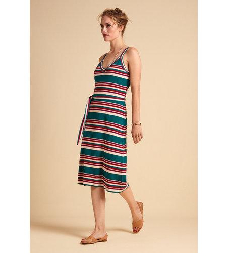 King Louie Isa Cami Dress Playa Stripe Bay Blue