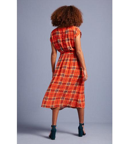 King Louie Vera Dress Loose Fit Sinclair Spicy Orange