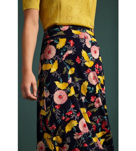 King Louie Border Maxi Skirt Rosabelle Blue