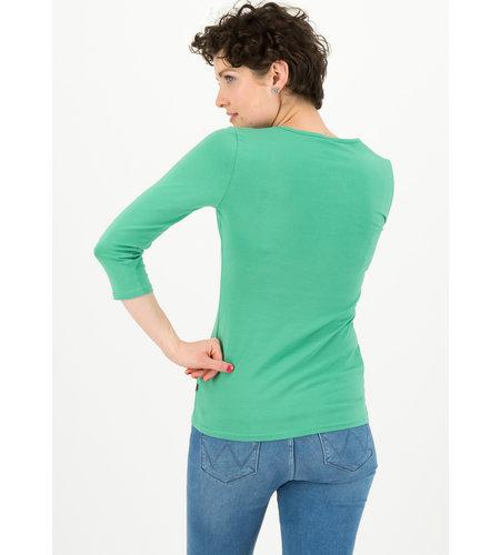Blutsgeschwister Logo 3/4 Sleeve Decolleté Shirt Simply Green