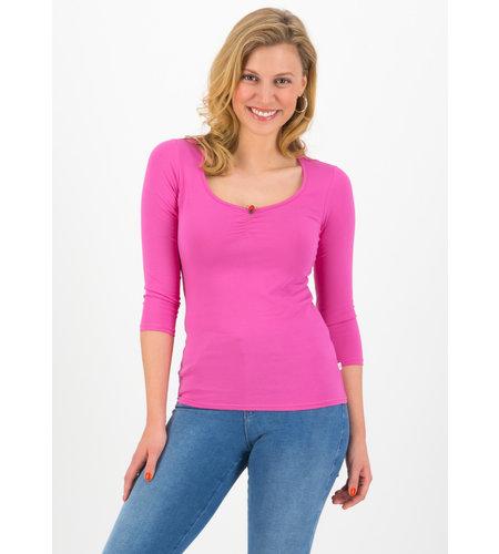 Blutsgeschwister Logo 3/4 Sleeve Decolleté Shirt Simply Pink