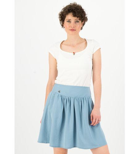 Blutsgeschwister Logo Woven Skirt Pale Blue