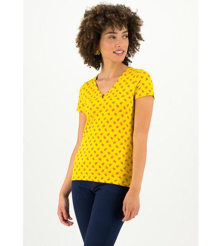 Blutsgeschwister Sunshine Camp T-Shirt Orange Picking