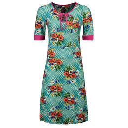 Tante Betsy Dress Keyhole Poppy Blue