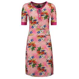 Tante Betsy Dress Keyhole Poppy Pink