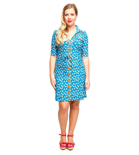 Tante Betsy Dress Betsy Edelweiss Blue