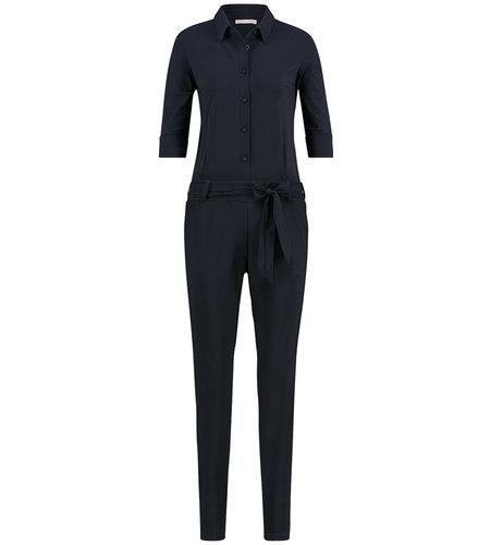 Studio Anneloes Angelique Jumpsuit 3/4 with cuff dark blue