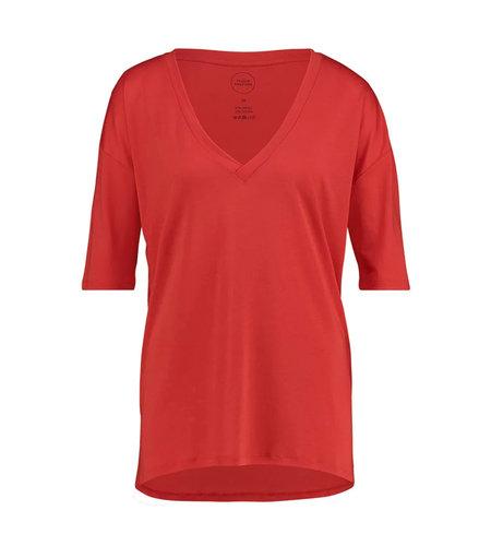 Studio Anneloes Caroline V-neck Shirt Red