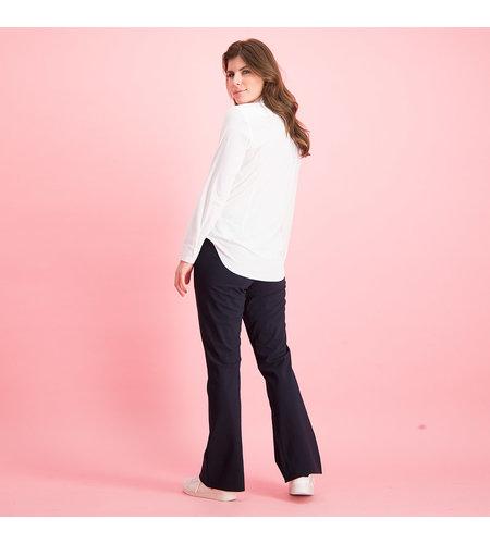 Studio Anneloes Flair Bonded Trousers Dark Blue