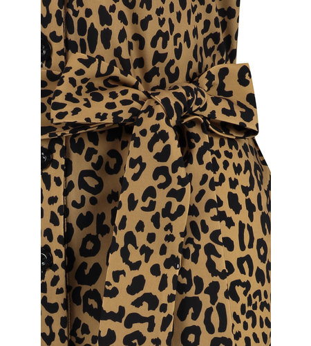 Studio Anneloes Cintia Leopard Dress Camel Black