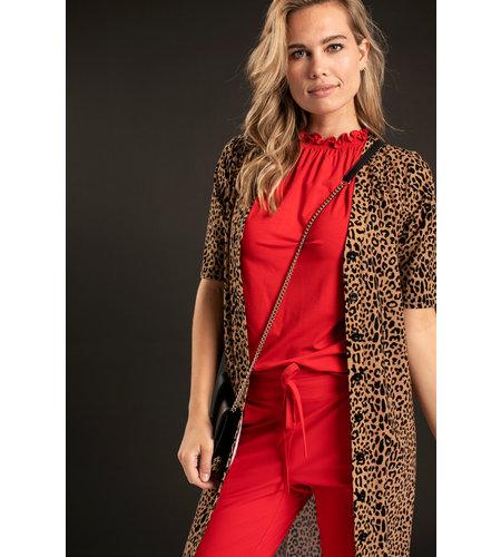 Studio Anneloes Donnatella Ruffle Shirt Red