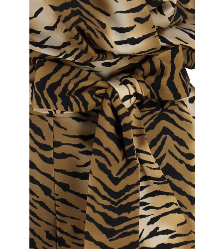 Studio Anneloes Marilyn Tiger Jumpsuit Camel Black