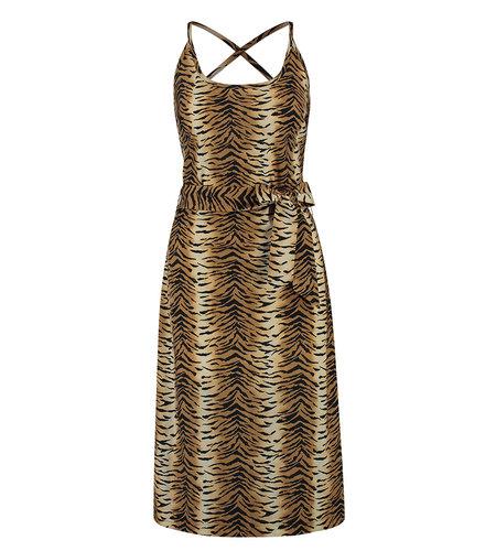 Studio Anneloes Tilda Tiger Dress Camel Black