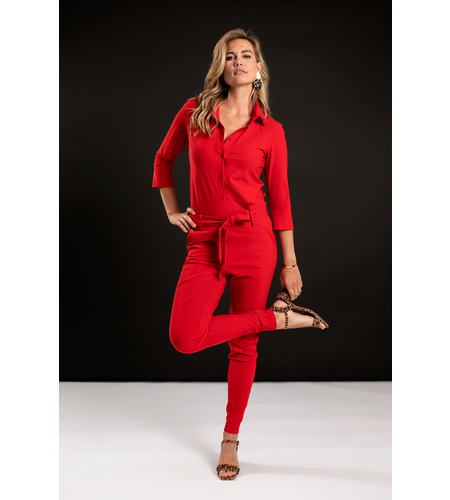 Studio Anneloes Angelique Jumpsuit 3/4 with cuff Red