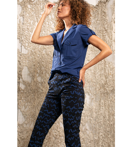 Studio Anneloes Flair Small Twirl Trousers Dark Blue Classic Blue