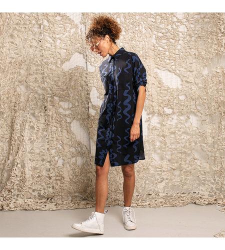Studio Anneloes Loopa Big Twirl Dress Dark Blue Classic Blue