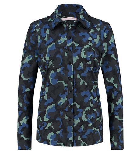 Studio Anneloes Poppy Camo Shirt Dark Blue Meadow Green