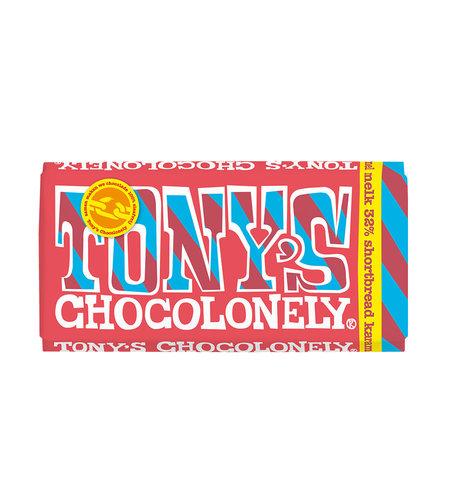Tony's Chocolonely Melk Shortbread Karamel 180 gram