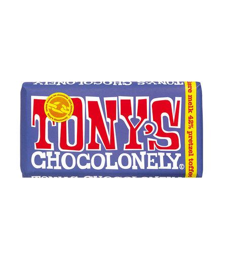 Tony's Chocolonely Donkere Melk Pretzel Toffee 180 gram