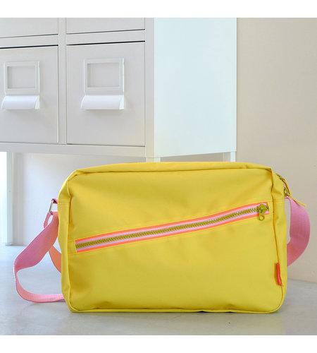 Engelpunt Shoulder Bag Zipper Yellow