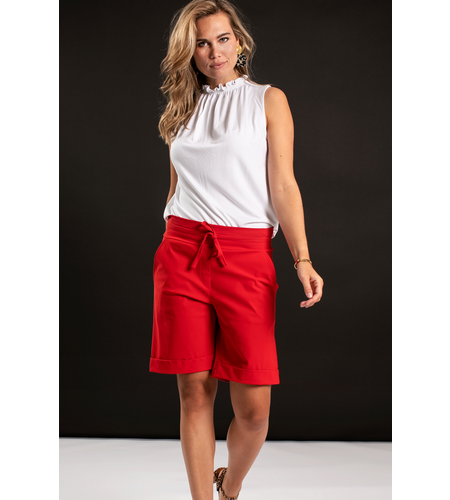 Studio Anneloes Donnatella Ruffle Shirt White