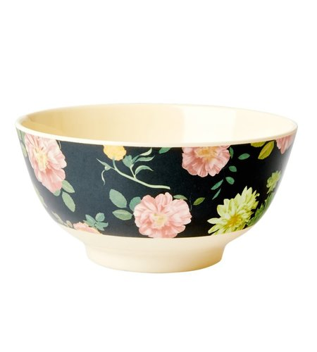 RICE Melamine Bowl Dark Rose