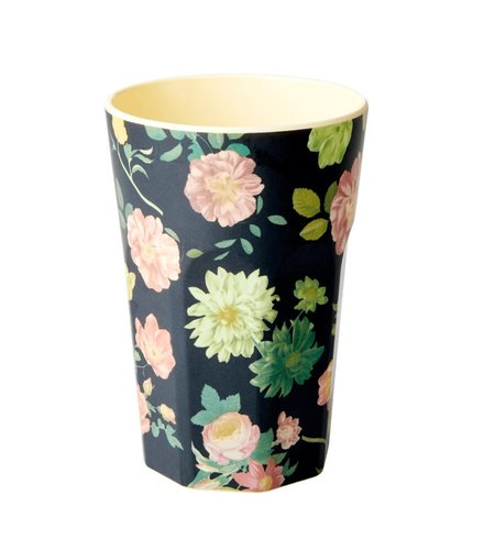 RICE Melamine Two Tone Tall Cup Dark Rose