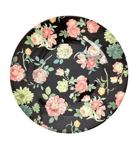 RICE Melamine Side Plate Dark Rose