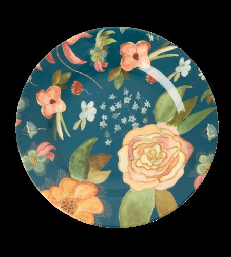 RICE Melamine Side Plate Selma Fall Flower