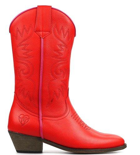 La Pintura Cowboy Laarzen Rosa Red