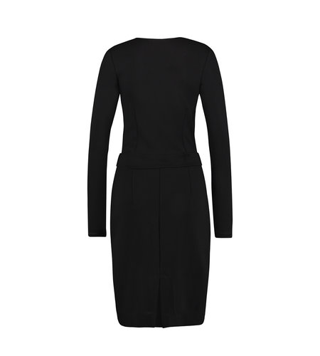 IEZ! Dress Wrap Thick Knit Black