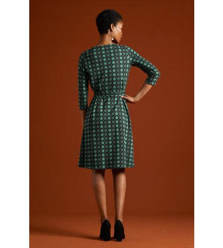King Louie Hailey Dress Aberdeen Fir Green