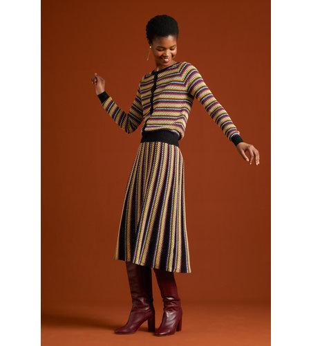 King Louie Stripe Skirt Bazaar Black