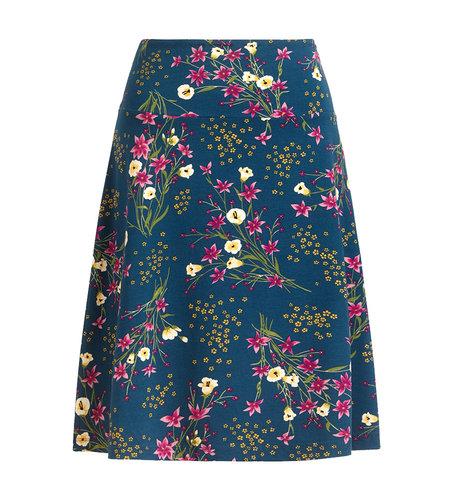 King Louie Border Skirt Yuko Storm Blue