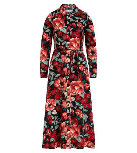 King Louie Olive Midi Dress Kimora Chili Red