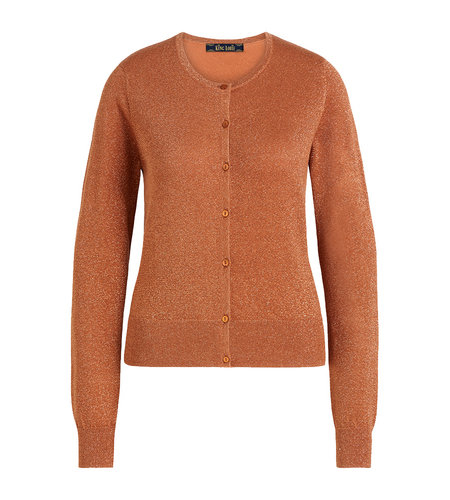 King Louie Cardi Roundneck Organic Lapis Bronze Brown