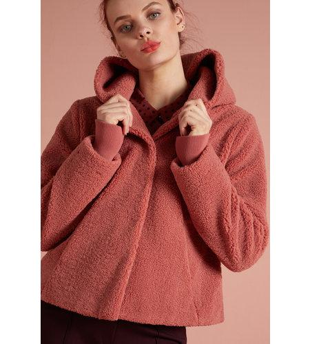 King Louie Judy Coat Murphy Velvet Pink