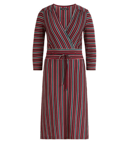 King Louie Cecil Dress Nippon Stripe Beet Red