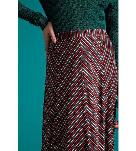 King Louie Juno Panel Skirt Nippon Stripe Beet Red