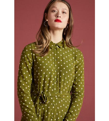 King Louie Rosie Midi Dress Pablo Olive Green