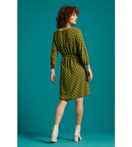 King Louie Billie Dress Pablo Olive Green