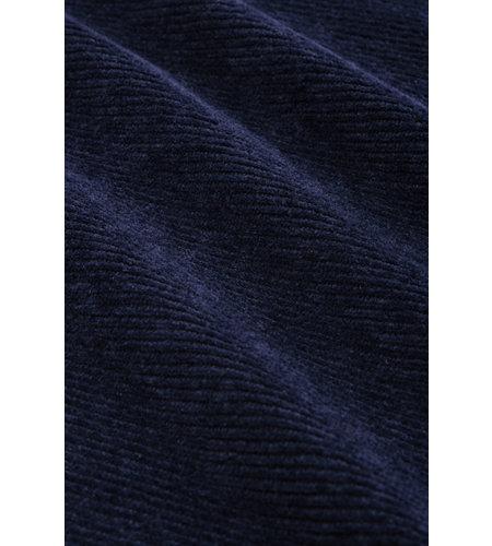 King Louie Cross Tulip Dress Rib Velours Blue