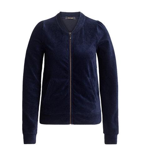 King Louie Iris Jacket Rib Velours Blue