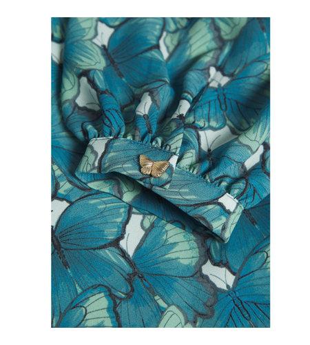 Fabienne Chapot Mira Blouse Dusty Blue Mint Green