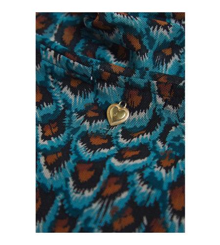 Fabienne Chapot Jane Mesh Top Dusty Blue Taupe