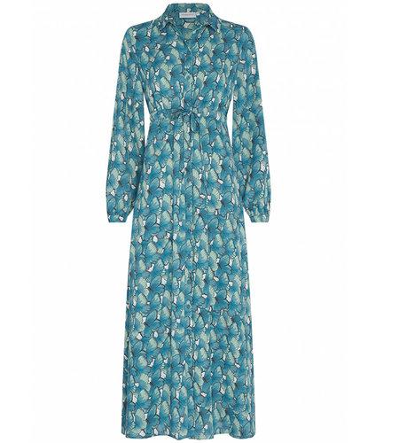 Fabienne Chapot Frida Long Dress Dusty Blue Mint Green
