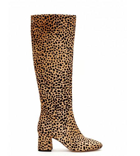 Fabienne Chapot Selene High Hairy Boot Camel Black