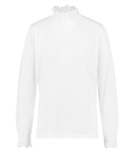 Studio Anneloes Nena Smock Coll Pullover Off White