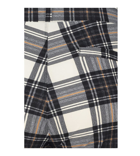 Studio Anneloes Flair Plaid Trousers Ivory Black